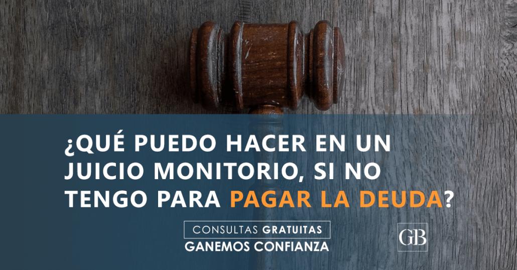 juicio monitorio Abogados García Blanes